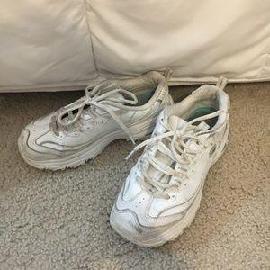 White Skechers D'Lites